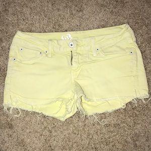 Colored Bullhead Jean Shorts